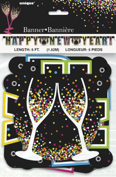 Confetti New Year Large Jointed Banner